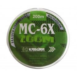 KABURA MC-6X 200 MT MULTI COLOR İP MİSİNA